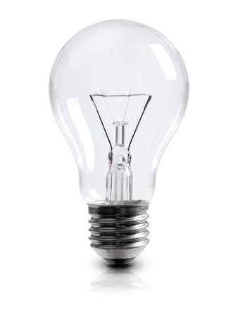 Photo for light bulb on white clipping path included - Royalty Free Image