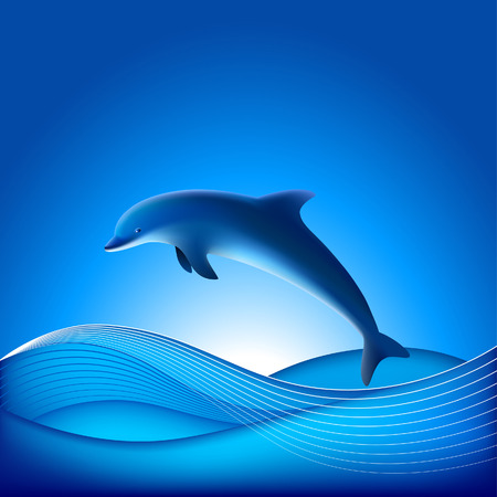 Vector Dolphin - File contains Gradient mesh