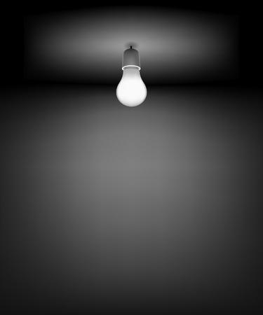 Illustration pour Background for Good Idea.  DARK ROOM - image libre de droit