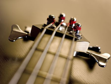 Machine heads for tuning guitar. Close-up. Hi-res.