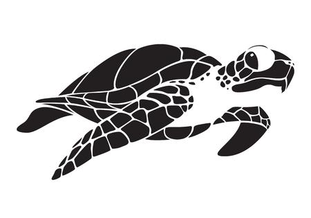 Illustration pour graphic sea turtle - image libre de droit