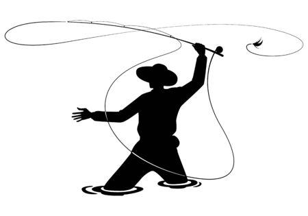 Ilustración de graphic fisherman - Imagen libre de derechos