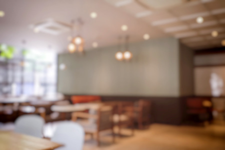 Blurred background of Coffee shop with bokeh