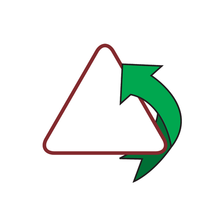 Modern fast simple stylized. Arrow and triangle