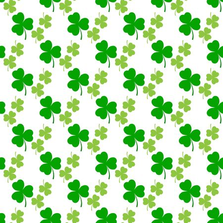 Illustration pour Clover leaf seamless pattern. Symbol fortune, success, traditional ireland festival, holiday St. Patrick. Modern texture. Color template for prints, wrapping, wallpaper etc. Vector illustration. - image libre de droit