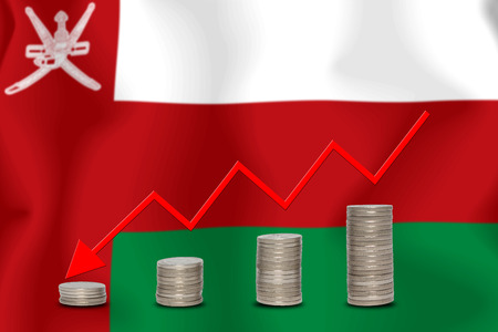 The economic going down of the Oman, with a head shot arrows down from the top medals.
