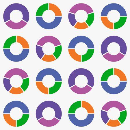 Illustration pour pie chart icon vector background. - image libre de droit