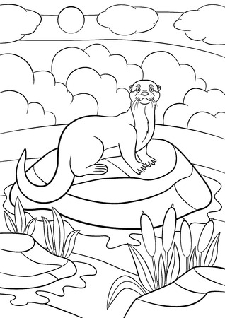 River coloring page | Coloring pages | 450x318