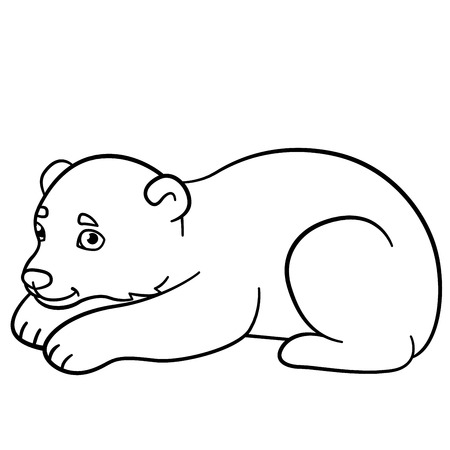 Little Polar Bear on Ice Surface Coloring Page - Free The Little ...   450x450