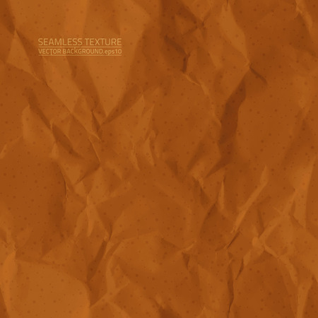 Creased brown paper seamless texture
