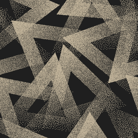 Illustration for Vector Abstract Stippled Weird Seamless Pattern - Royalty Free Image