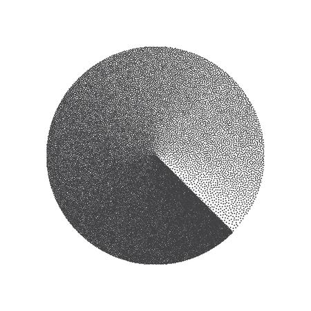 Illustration for Minimal Vector Stippled Circle Shape. Dotwork Art Illustration. Stippling Background - Royalty Free Image