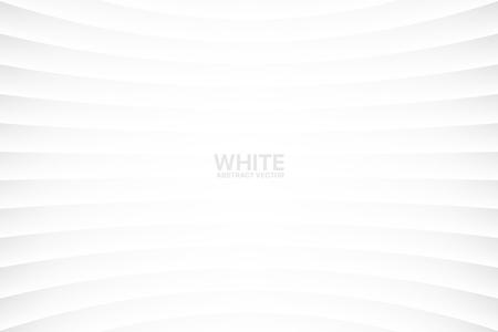 Ilustración de White Clear Blank Subtle Abstract Vector Geometrical Background. Monotone Light Empty Concave Surface. Minimalist Style Wallpaper. Futuristic 3D Illustration - Imagen libre de derechos
