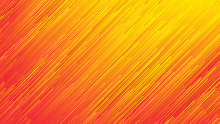 Photo for Dynamic Flow Bright Vivid Orange Red Gradient Lines Abstract Background In Ultra High Definition Quality. Digital Glitch Conceptual Art Illustration - Royalty Free Image