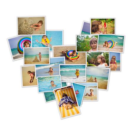 Foto de Child at sea. Collage. Selective focus. kids. - Imagen libre de derechos