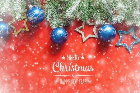 Photo for Christmas background in red. New Year. Selective focus. nature. - Royalty Free Image