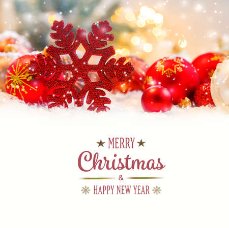 Photo for Merry Christmas Holidays greeting card background. Selective focus. nature. - Royalty Free Image
