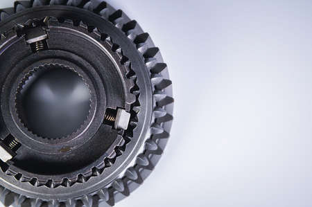 Photo pour new gear for the gearbox. Mechanical background shiny detail - image libre de droit