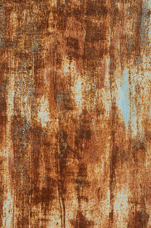 Foto per Textured grunge background red peeling paint with rust on old metal surface - Immagine Royalty Free
