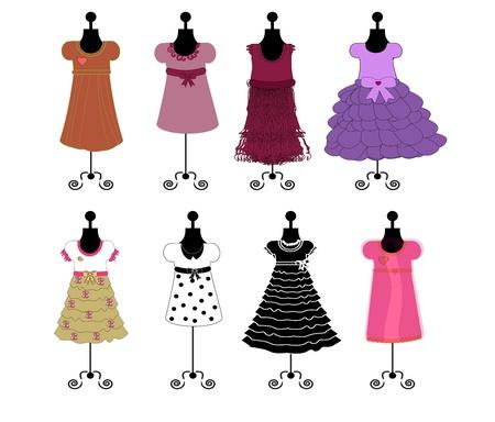 Ilustración de dresses vector illustrqtion - Imagen libre de derechos