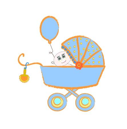 Baby buggy. illustration on white background