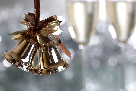 Foto für Christmas bells against light blurred background - Lizenzfreies Bild