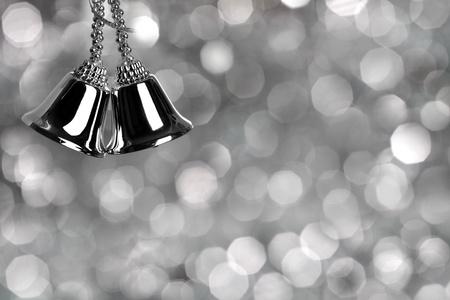 Foto für Silver Christmas card - Lizenzfreies Bild
