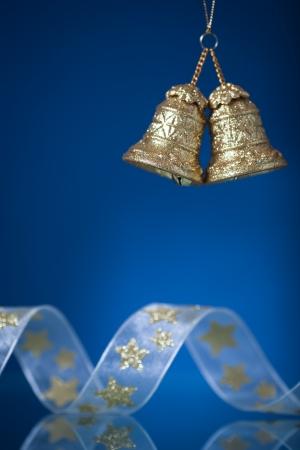 Foto für Christmas tree decoration against dark blue background - Lizenzfreies Bild
