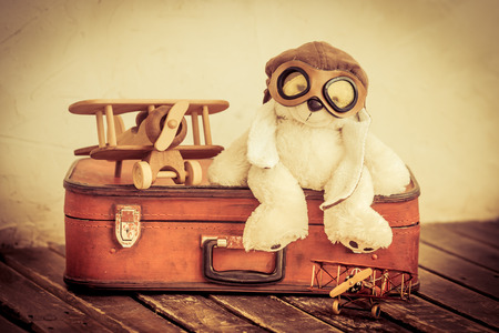 Retro toys. Travel and adventure concept