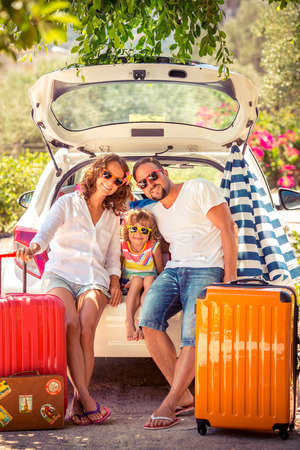Foto de Family going on summer vacation. Car travel concept - Imagen libre de derechos