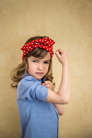 We can do it. Symbol of girl power and feminism conceptの写真素材