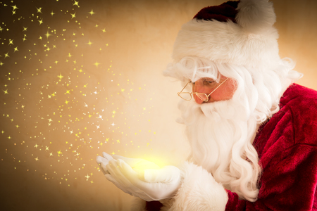 Santa Claus magic. Christmas holiday concept