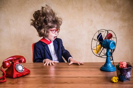 Foto de Portrait of young businessman in office. Success, creative and innovation concept - Imagen libre de derechos