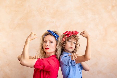 Foto de We can do it!  Woman's day. 8 March. Spring holiday concept. - Imagen libre de derechos
