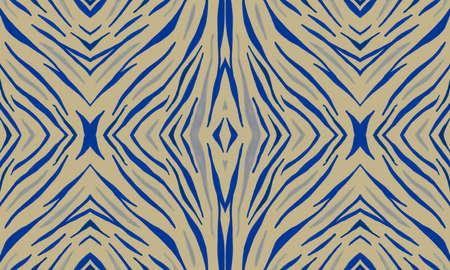 Photo pour Purple Zebra Skin Pattern. Violet African Ornament. Seamless Abstract Tribal Banner. Seamless Watercolor Wave Lines. Tiger Skin Pattern. Seamless Safari Ornament. Yellow Animal Skin Print. - image libre de droit