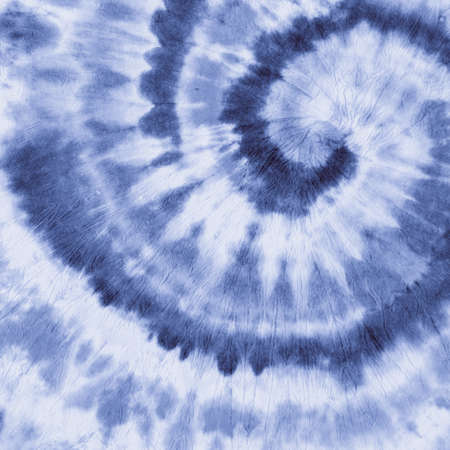 Photo for Blue Indigo Tye Dye. Abstract Spiral. White Circle Psychedelic. Fabric Vintage Design. White Dyed Textile. Indigo Tye Die. Blue Grunge Spiral. Swirl Psychedelic. Dyed Texture. Indigo Tie Dye. - Royalty Free Image