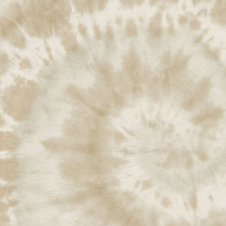 Photo for Faded Tye Die Shirt. Abstract Grunge Background. 1970s Style Textile. Papyrus Print. Beige Dyed Psychedelic Fabric. Tie Dye Shirt. Sand 1970s Design Texture. Old Paper Print. Hippie Shirt. - Royalty Free Image