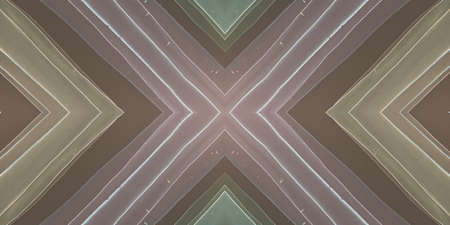Photo pour Ethnic Diamond Pattern. Drawn by Water Zigzags Background. Seamless Watercolor Tribal Carpet. Traditional Squares Textile. Abstract Ethnic Diamond. African Print. Dark Ethnic Diamond. - image libre de droit