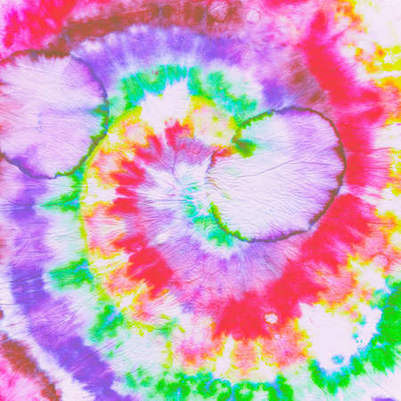 Photo for Tie Dye Circle. Rainbow Batik Shirt. Dyed Psychedelic Backdrop. Tye Die Spiral Painting. Colorful Hippie Texture. Abstract Swirl Swatch. Cool Artistic Pattern. Unicorn Tie Dye Circle. - Royalty Free Image