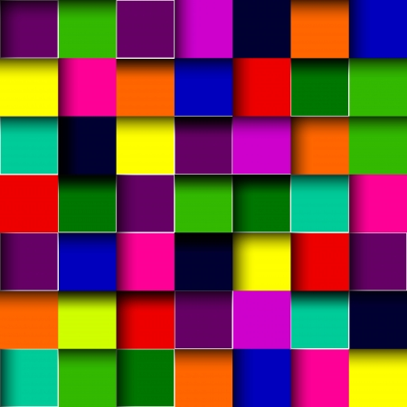 Vector color mosaic tile background