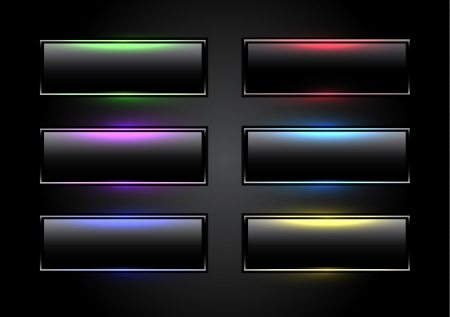 Black glowing buttons