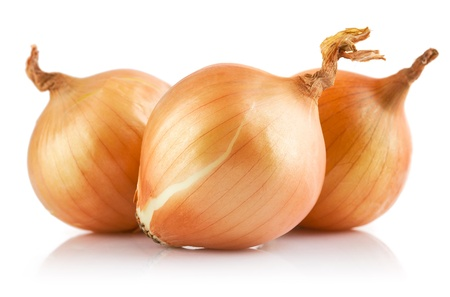 fresh onions vegetables isolated on white background