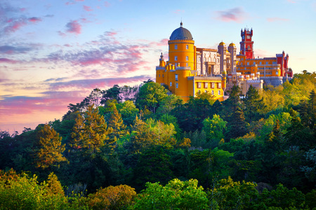 National Palace of Pena in Sintra, near Lisbon, Portugal.