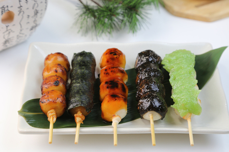 Photo for various skewer dumplings - Royalty Free Image