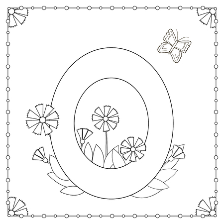 Number 0 Coloring Page - GetColoringPages.com | 450x450
