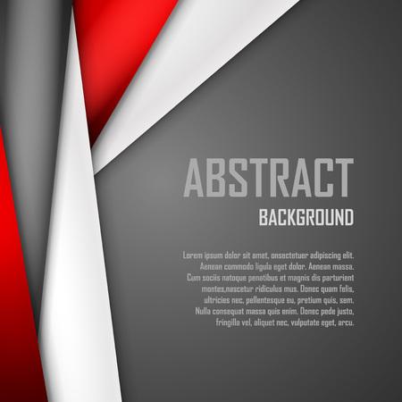 Ilustración de Abstract background of red, white and black origami paper.  - Imagen libre de derechos