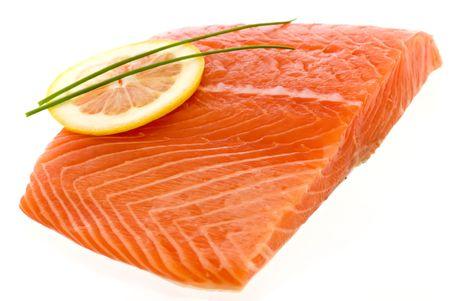 Salmon with a Lemon Slice