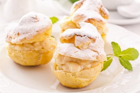 Profiteroles stuffed with pastry cream