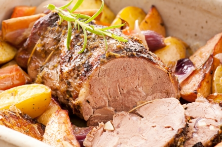 lamb roast with the vegetables