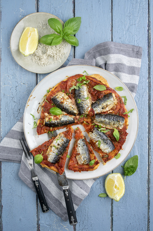 Sardine Tart on Plate